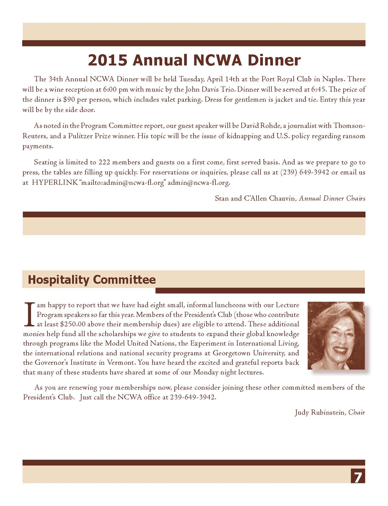 NCWA March 2015 Newsletter Page 7