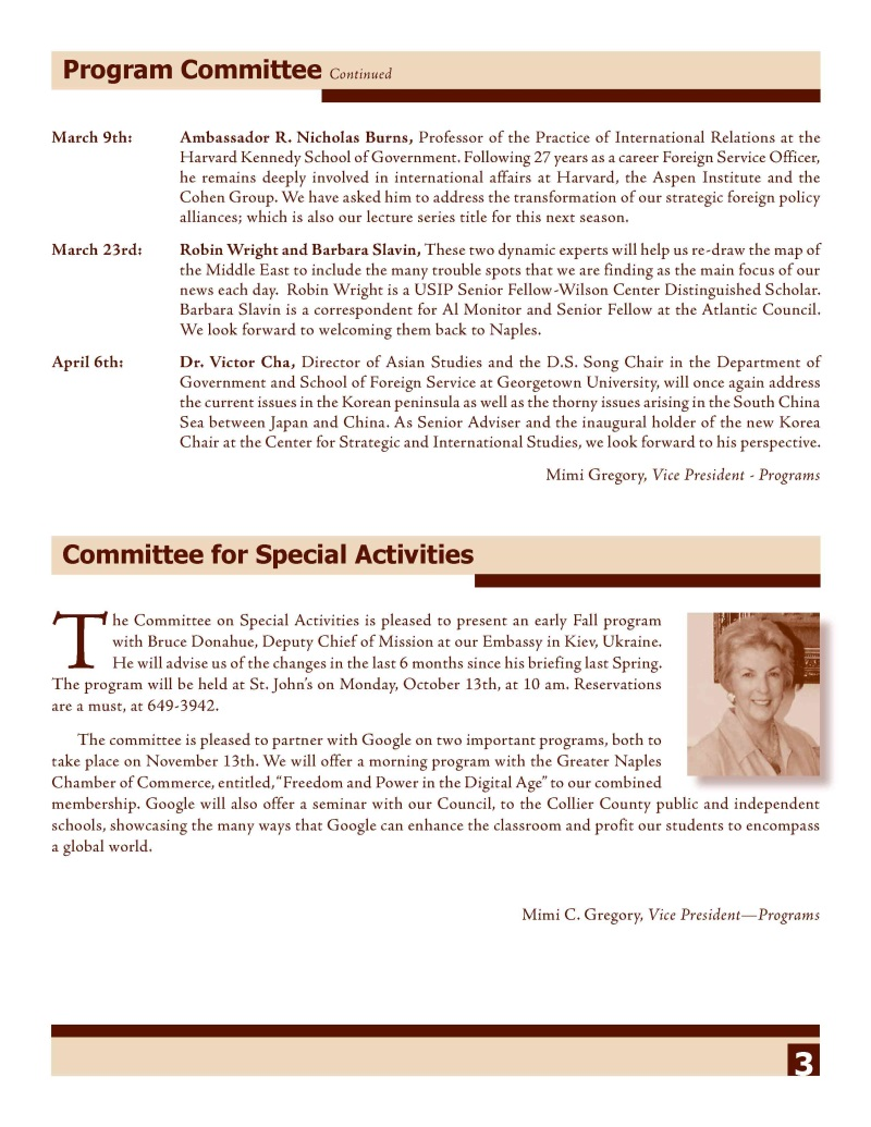 NCWA October 2014 Newsletter Page 3