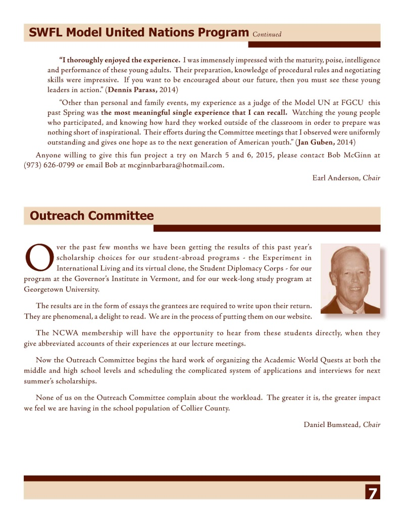 NCWA October 2014 Newsletter Page 7